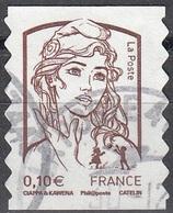 France 2013 Marianne De Ciappa-Kawena 0.10 Euro Adhésif O Cachet Rond - France
