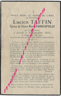 En 1925-Méteren  (59) Lucien TAFFIN, Ep Marie VANNEUFVILLE 32 Ans - Décès