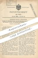 Original Patent - Heinrich Huhn , Pforzheim , 1905 , Speisäule Für Zahnärztliche Zwecke | Zahnarzt | Spülung | Medizin - Historische Dokumente