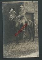 Photo-Carte. Hombourg - Soldats Allemands, Casque à Pointe, Superbe Cavalier Sur Sa Monture. Guerre 1914-18. - Plombières