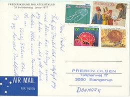 Danish Postcard Sent From Australia To Denmark 19-11-1986 With Australian Stamps - Australia