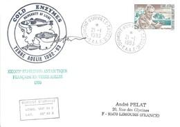 TAAF - Dumont D'Urville-T.Adélie: Lettre Avec Timbre N°167 Tchernia - 21/01/1993 - Terres Australes Et Antarctiques Françaises (TAAF)
