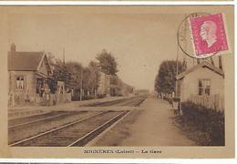 FRANCE - MIGNÊRES - LOIRET - La Gare - RARE - Autres Communes