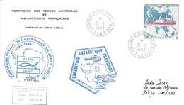 TAAF-Dumont D'Urville-T.Adélie: Lettre Avec Timbre N°181 L'Astrobale Sur La Route De Nord-est - 21/01/1993 - French Southern And Antarctic Territories (TAAF)