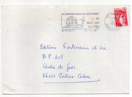 """1980-lettre De MARNAY-70  Pour POITIERS-86--flamme Temporaire """"Rendez-vous De L'escargot""""-type Sabine - Storia Postale"""