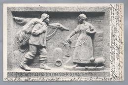 DE.- SCHÖN ANNA STUNN VAER STRATENDAER. Relief Vom Klaus Groth Brunnen No 4. 1915 Curt Baumgarten. Heinrich Missfeldt - Voorstellingen