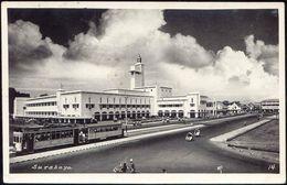 Indonesia, JAVA SOERABAIA, Kantor Gubernuran, Tram (1957) RPPC Postcard - Indonesië