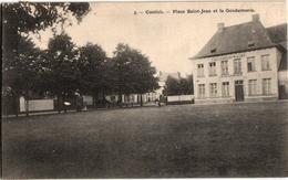 1 Postkaart Kontich Contich Place St Jean Et La Gendarmerie Veiligheidswacht  C1909 - Kontich