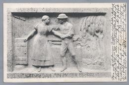 DE.- LAT MI GAN MIN MODER SLÖPPT. Relief Vom Klaus Groth Brunnen No 5. 1914 Curt Baumgarten. Heinrich Missfeldt - Voorstellingen