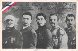 """CONGRES DE LA PAIX - VERSAILLES 1919 - DELEGATION DES MUTILES """"GUEULES CASSEES"""" -MILITARIA - GUERRE 14 18 - SANTE - Guerra 1914-18"""