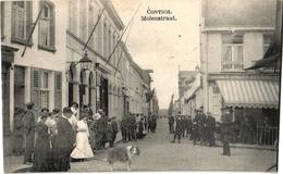 1 Postkaart Kontich Contich  Molenstraat Estaminet In Het Anker C1909 - Kontich