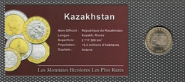 0018 - 'MONNAIES BICOLORES LES PLUS RARES' - Kazakhstan - 100 Tenge - 2005 - Kazakhstan
