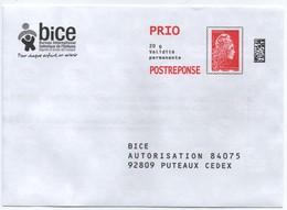 Prêt-à-poster. Enveloppe Prio Postréponse Yzeultyz. BICE - Entiers Postaux