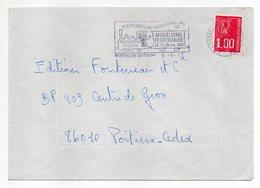"""1977-lettre De MONTPELLIER-34  Pour POITIERS-86-flamme Temporaire """"3° Expo Modélisme Ferroviaire"""" Type Marianne Béquet - Storia Postale"""