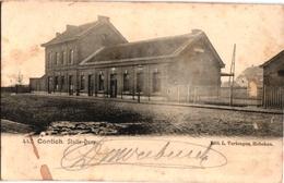 1 Postkaart Kontich Contich  Statie Dorp C1909 - Kontich