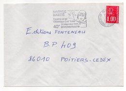 """1977-lettre De PARIS-75  Pour POITIERS-86-flamme Temporaire """"40°anniv.-Maryse Bastie-avion """" Type Marianne Béquet - 1961-...."""