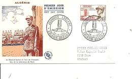 Algérie - Général Leclerc ( FDC De 1956 à Voir) - FDC