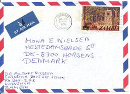 Zambia Air Mail Cover Sent To Denmark Luanshya 23-2-1980 Single Franked - Zambia (1965-...)