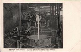 ! Alte Ansichtskarte  Peine, Peiner Walzwerk, Stahl Montanindustrie, Acierie, Steel Industry, Abstich Des Kupolofens - Peine