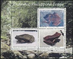 PHILIPPINES 1999 Frogs Amphibians Animals Fauna MNH - Ranas