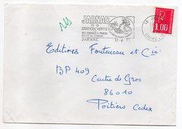 """1977-lettre De JARNAC-16  Pour POITIERS-86-flamme """"Cognac Et Pineau """" Type Marianne Béquet - Storia Postale"""