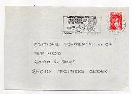 """1981-lettre De LONGWY-54  Pour POITIERS-86-flamme Temporaire """"Longwy BD-LOBEDE 81 """" Type Sabine - Storia Postale"""