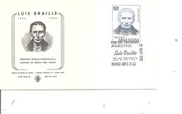 Handicaps - Aveugles - Braille ( FDC D'Argentine De 1976 à Voir) - Handicap