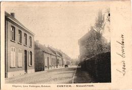 1 Postkaart Kontich Contich Nieuwstraat   C1906 Uitgever Léon Vertongen - Kontich