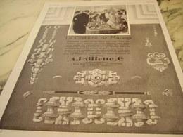 ANCIENNE PUBLICITE CORBEILLE DE MARIAGE JOAILLIER PAILLETTE  1929 - Juwelen & Horloges