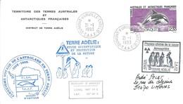 TAAF - Dumont D'Urville-T.Adélie: Lettre Avec Timbre N°177 Orque - 21/01/1993 - Lettres & Documents