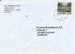Latvia  Cover Sent To Denmark Smiltene 16-12-2002 Single Franked - Latvia