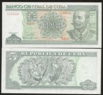Cuba 2017 $5 Pesos Banknotes UNC - Cuba