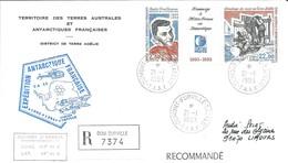 TAAF - Dumont D'Urville-T.Adélie: Lettre Avec Triptyque N°183 Hommage à Météo France En Antarctique - 21/01/1993 - Lettres & Documents