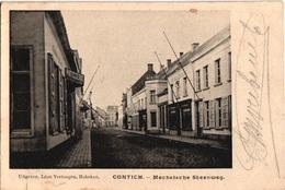 1 Postkaart Kontich Contich Mechelsche Mechelse Steenweg Patisserie  C 1908 Uitgever Léon Vertongen - Kontich