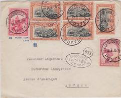 "Doc. Congo Belge - Leopoldville - Anvers / Antwerpen. 1935 / Reclame ""Les Cafés Du Congo"" - Congo Belge"