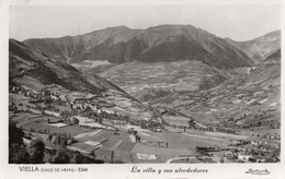 VIELLA-VALLE DE ARAN-REAL PHOTO- VIAGGIATA 1952 - Lérida