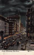 New York City - Lower Broadway - Written 1909 - Tramway - Stamp Postmark - Animation - 2 Scans - New York City