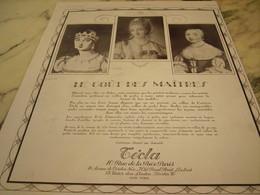 ANCIENNE PUBLICITE LE GOUT DES MAITRES CREATION TECLA 1929 - Jewels & Clocks