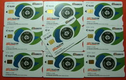 Serie 00094-03...3 Italian Army In Kosovo Lot 10 Chip Phone CARD 10 Euro Used Operator TELECOM ITALIA *M. B. WEST KFOR* - Kosovo