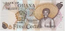 Ghana 5 Cedis 2-1-1973 Pk 15 A.1 UNC - Ghana