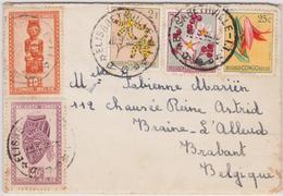 Doc. Congo Belge - Elisabethville Vers Braine-L'Alleud 1952 - Congo Belge