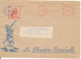 Italy Cover With Meter Cancel Oria 21-12-1960 Sent To USA - 6. 1946-.. Republic