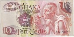 Ghana 10 Cedis 2-1-1975 Pk 16 C Ref 2 - Ghana