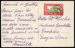 """1929 N° 148 40ct Obl. C-à-d """"NOUMEA 12/7/29 Sur CP Pour La France: Embarquement Du Coprah à Tadine-Maré Iles Loyalty. TB - Briefe U. Dokumente"""