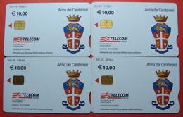 Serie 104-0,4 Italian Army In Kosovo & Iraq Chip Phone CARD 10 Euro Used Operator TELECOM ITALIA *Arma Dei Carabinieri* - Kosovo