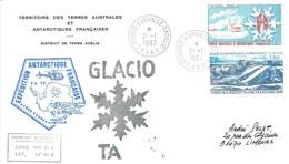 TAAF - Dumont D'Urville-T.Adélie: Lettre Avec Timbres N°103 Glaciologie Et PA N°66 Glaces De Pression - 21/01/1993 - Lettres & Documents