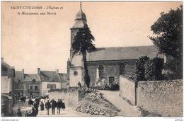 SAINT COULOMB L'EGLISE ET LE MONUMENT AUX MORTS 1923 TBE - Saint-Coulomb