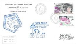 TAAF - Dumont D'Urville-T.Adélie: Lettre Avec Timbres N°173 Grenat Almandin Et PA N°125 Radio-amateurs - 21/01/1993 - Lettres & Documents