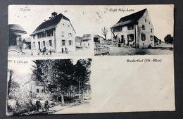 Biederthal Ht. Rhin Café Abi-Lutz/Mairie/Château - Mulhouse