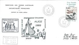 TAAF - Dumont D'Urville-T.Adélie: Lettre Avec Timbre PA N°121 Damier Du Cap - 21/01/1993 - Lettres & Documents